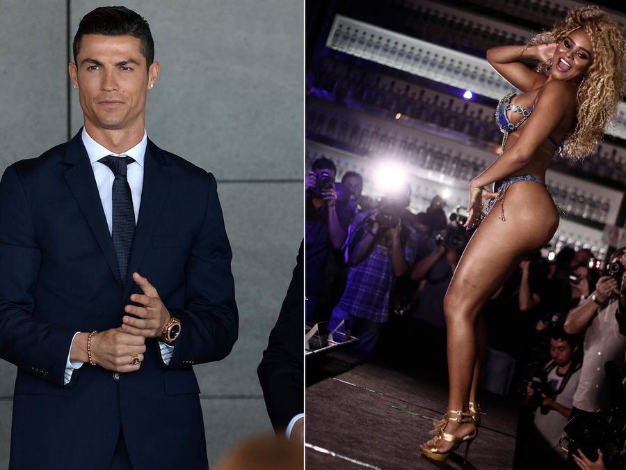 Cristiano Ronaldo y Erika Canela