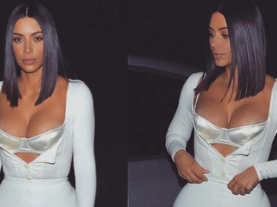 Kim Kardashian en lencería