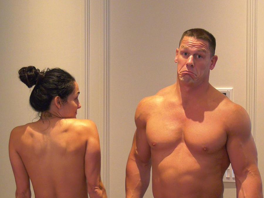 John Cena y Nikki Bella desnudos