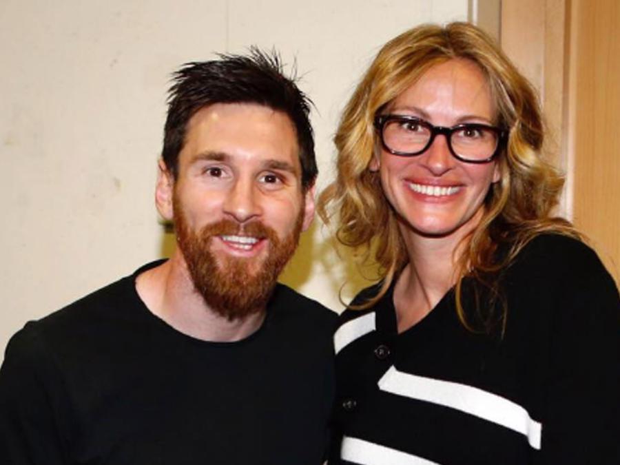 Julia Roberts con Lionel Messi