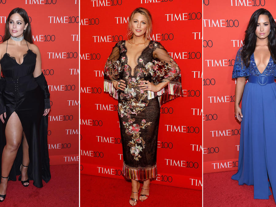 Ashley Graham, Blake Lively y Demi Lovato en la alfombra roja de Time 100