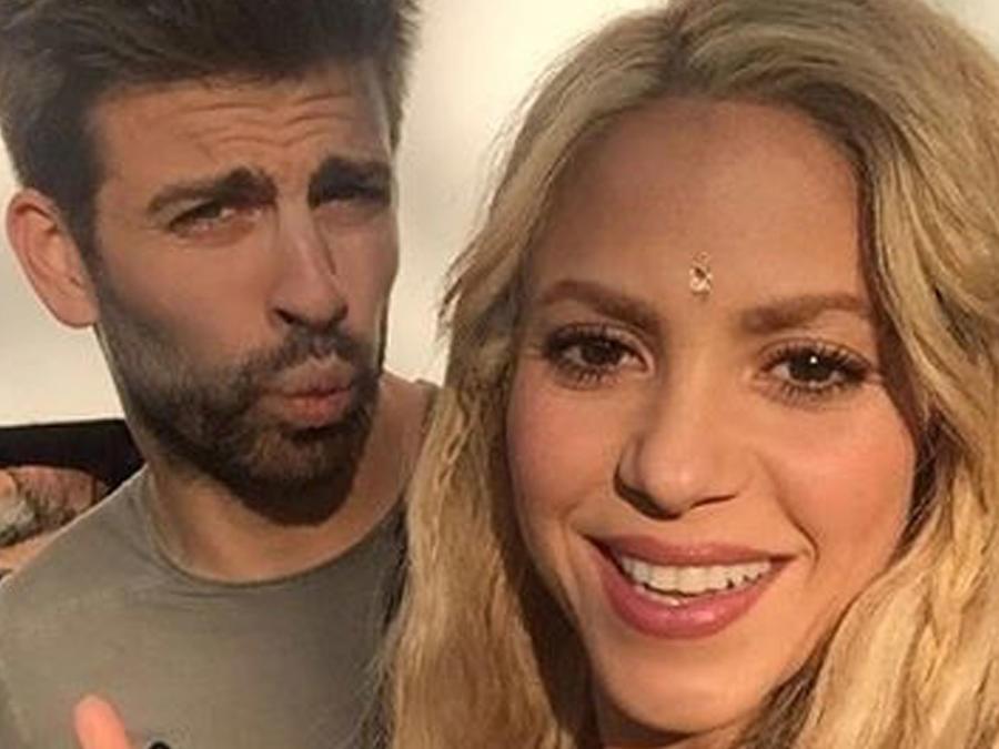 Shakira y Gerard Piqué grabando video