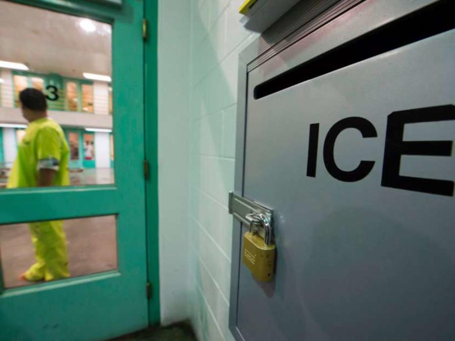 Imagen de un centro de detención de ICE