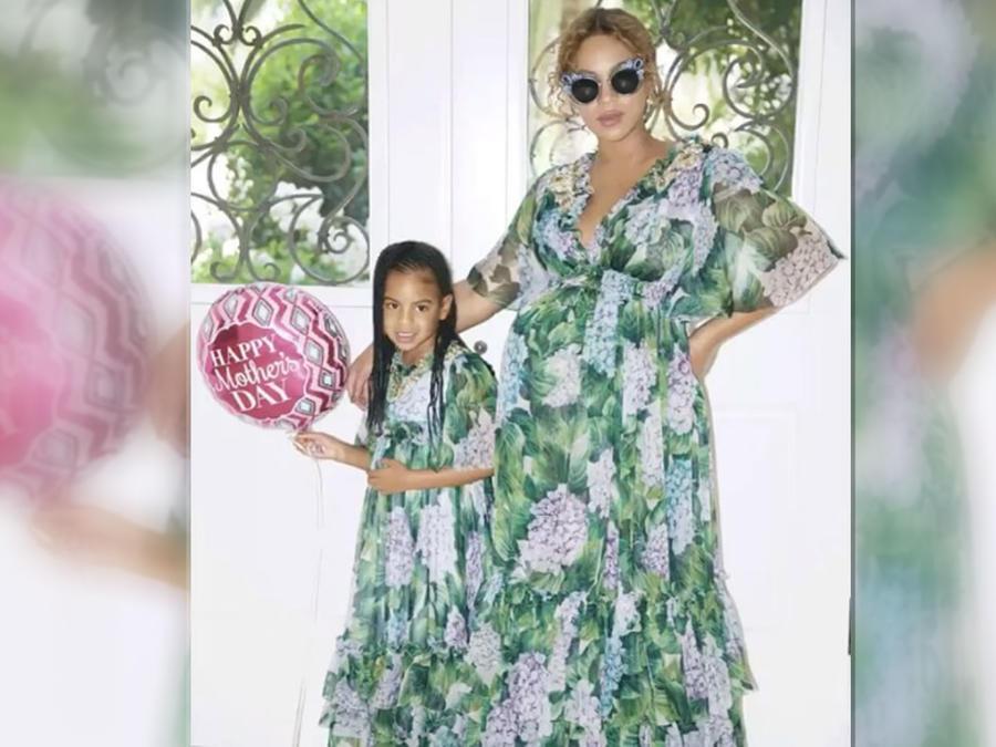 Beyoncé y su hija Blue Ivy en el día de las madres
