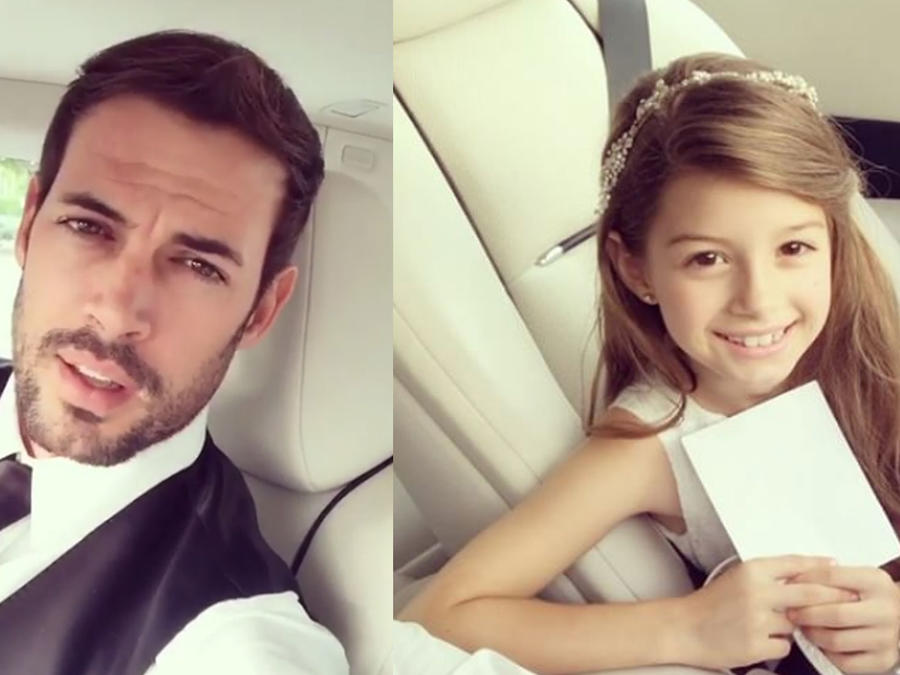 William Levy y su hija asisten al mejor baile de su vida