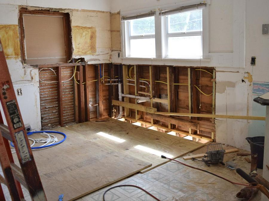 Casa siendo remodelada
