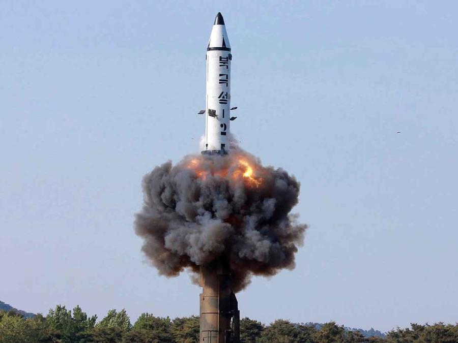 Misil lanzado por Corea del Norte