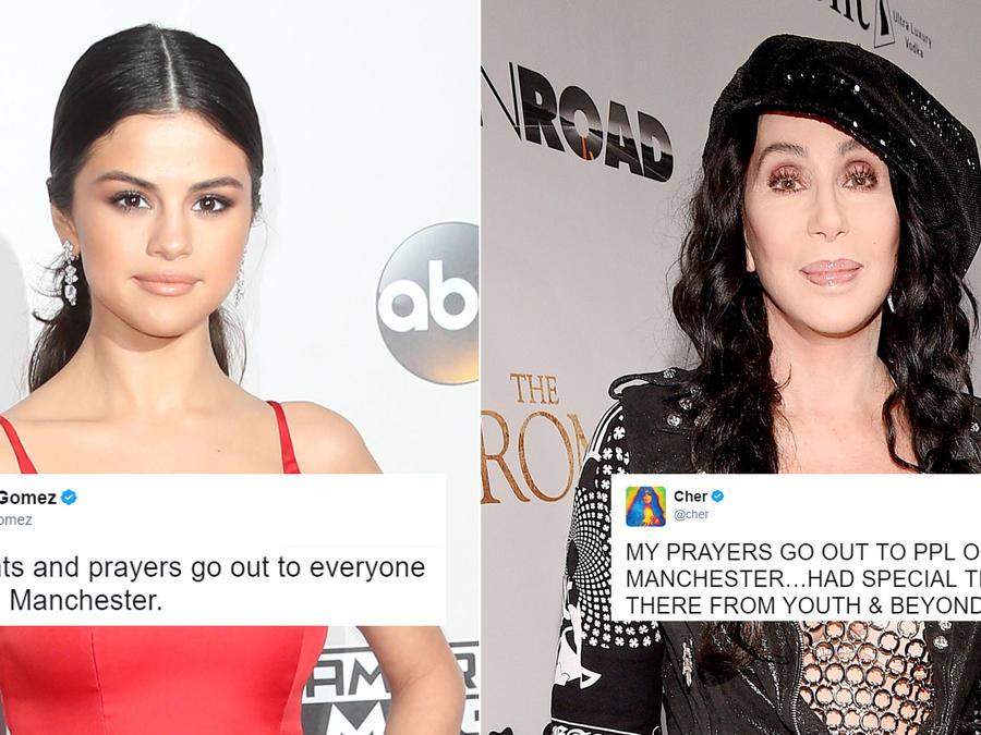 Selena Gomez y Cher reaccionan al ataque en Manchester