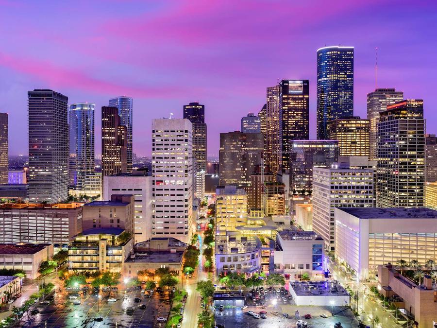 Vista de la ciudad de Houston, Texas
