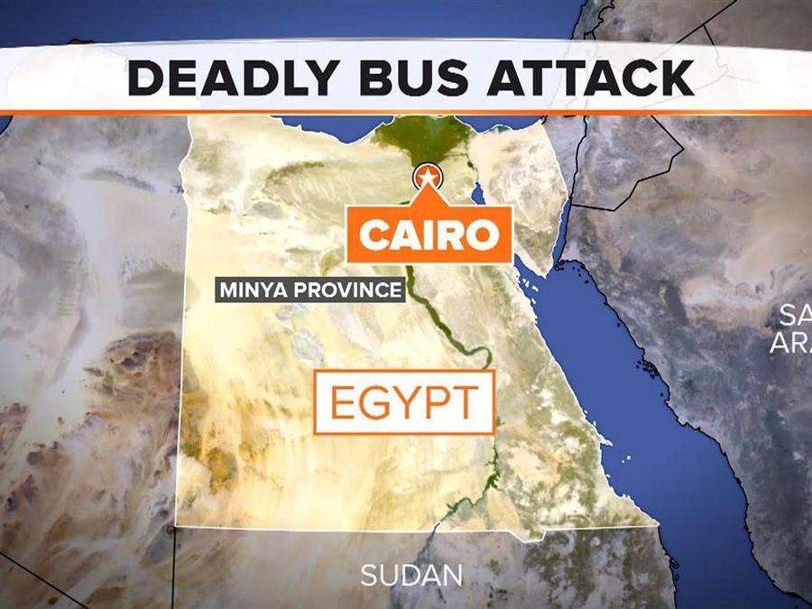 Mapa del ataque en Egipto que dejó al menos 24 muertos