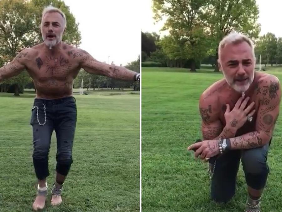 """Gianluca Vacchi bailando y cantando """"Felices los 4"""""""