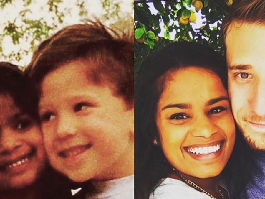 Matt Grodsky y Laura Scheel antes y después