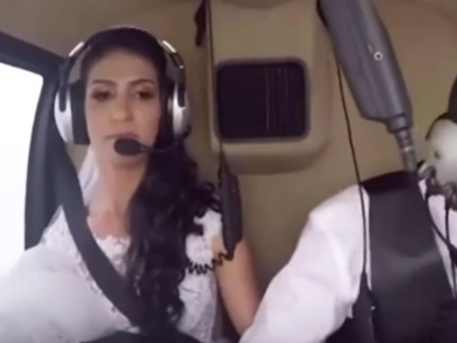 Trágico accidente de un helicoptero que lelvaba a una novia a su boda (VIDEO)