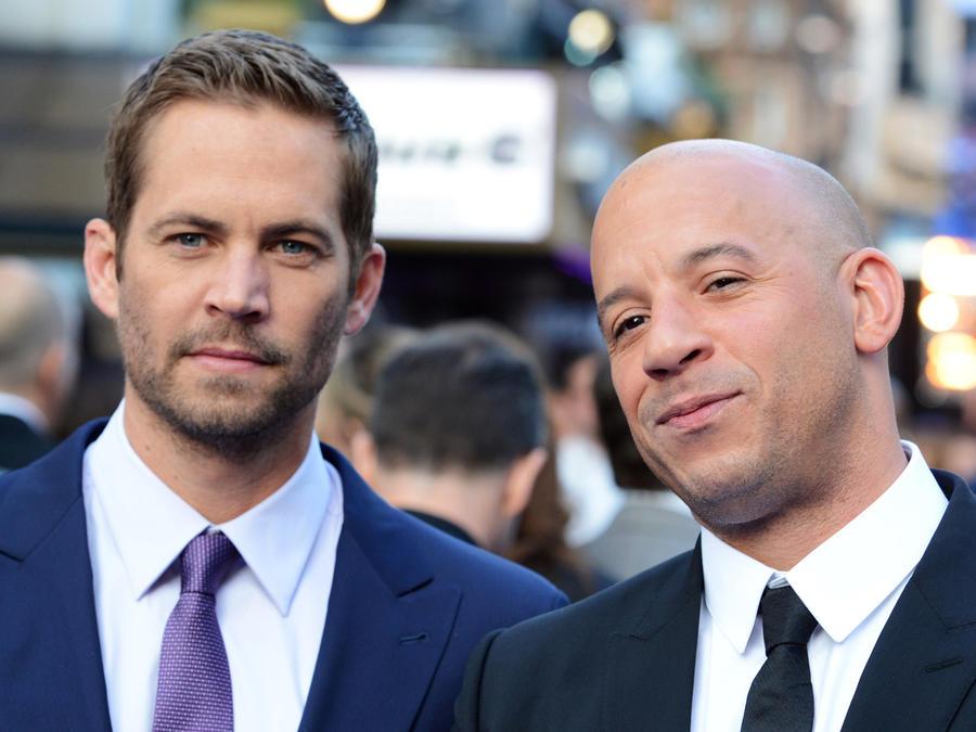 Paul Walker y Vin Diesel en la Premiere de Fast and Furious 6