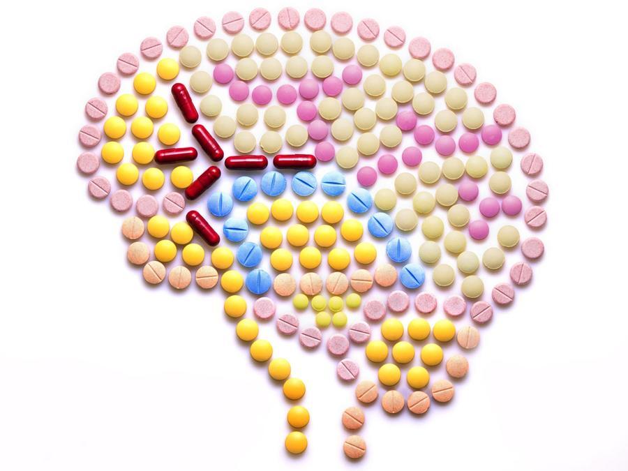 Cerebro hecho con píldoras
