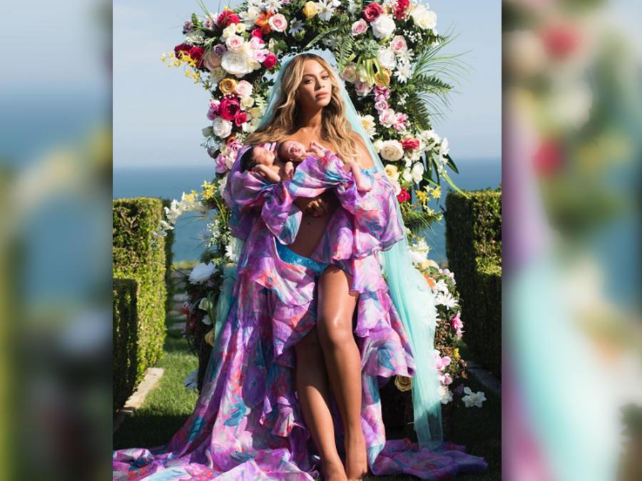 Beyoncé publica la primera foto de sus mellizos en Instagram