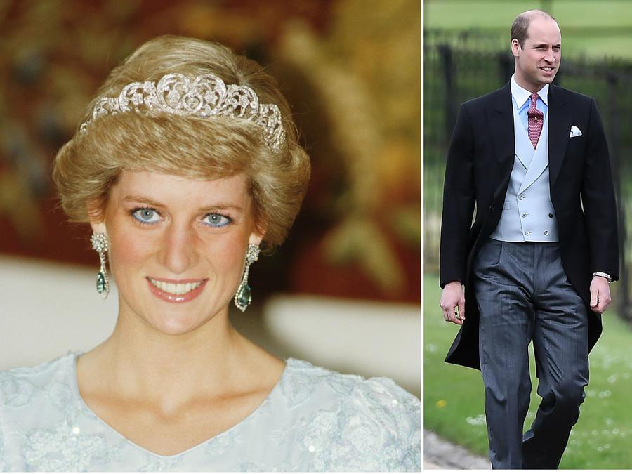 Collage Princesa Diana de Gales y sus hijos