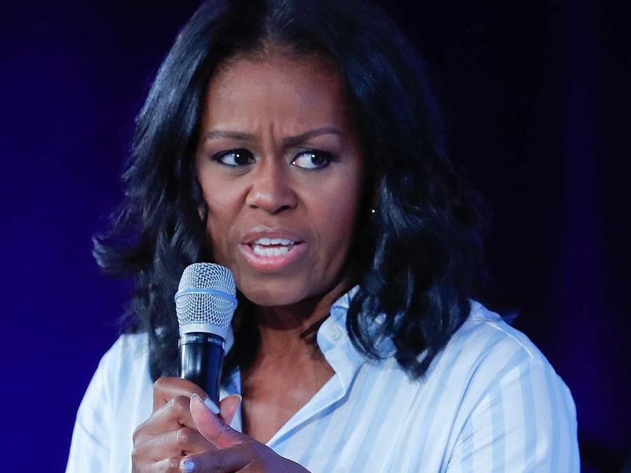 La ex primera dama Michelle Obama en una conferencia sobre salud el 12 de mayo del 2017