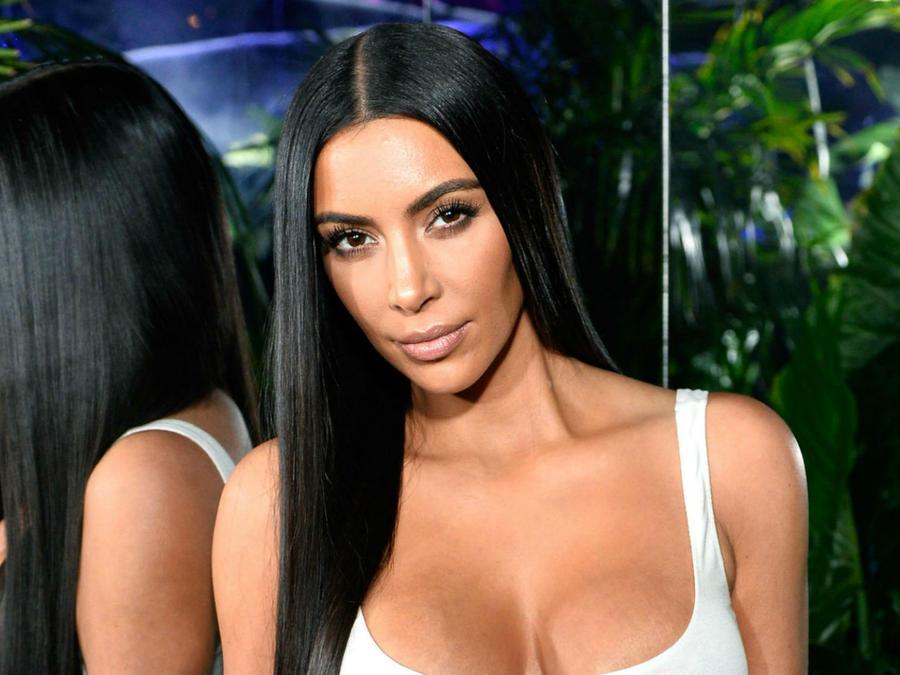 Kim Kardashian en el evento de Belmain