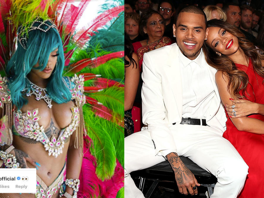 Chris Brown commented on Rihanna's picture and the internet is not having it