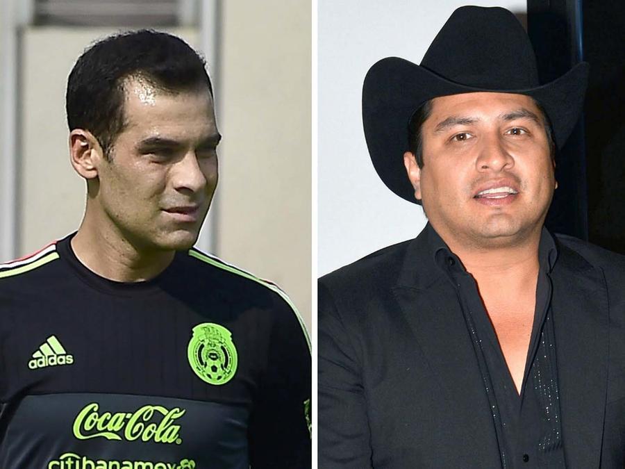 Rafa Márquez y Julión Álvarez