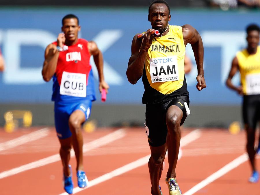 Usain Bolt en su última carrera