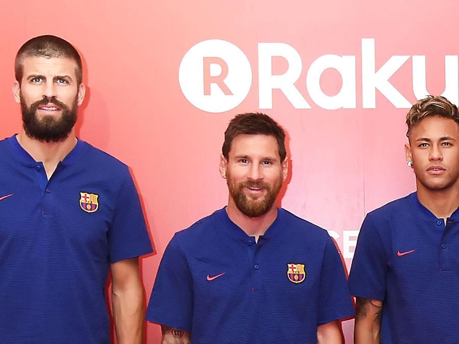 Pique, Messi, Neymar