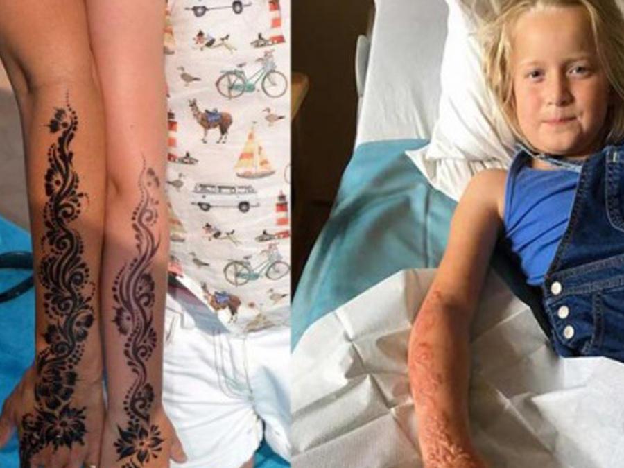 Madison Gulliver con tatuaje de henna