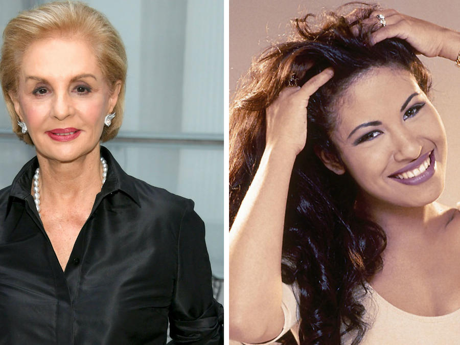 Collage Carolina Herrera y Selena Quintanilla