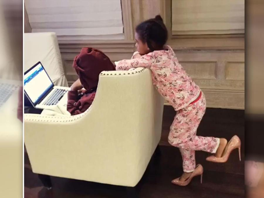 La hija de Beyoncé, Blue Ivy, comparte los sofisticados gustos de su mamá y sus zapatos