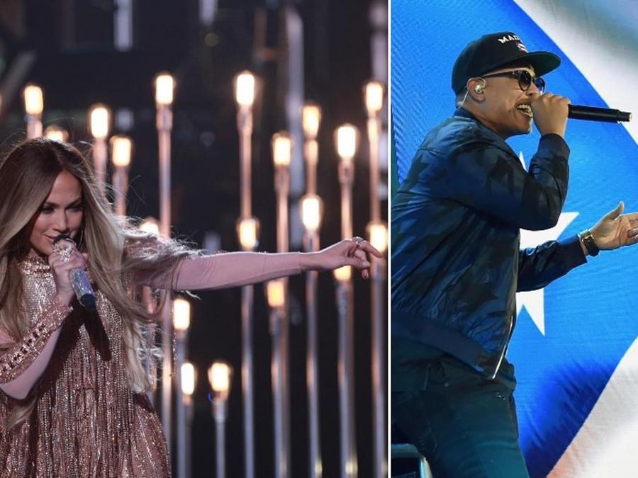 Jennifer Lopez y Daddy Yankee cantando