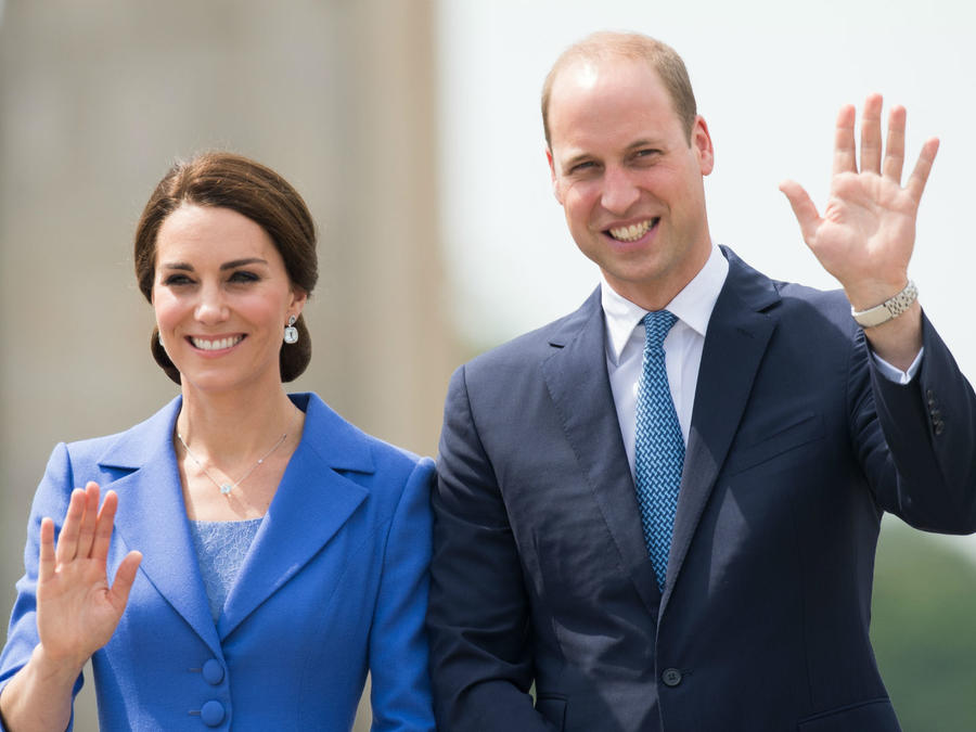 Kate Middleton con el príncipe William