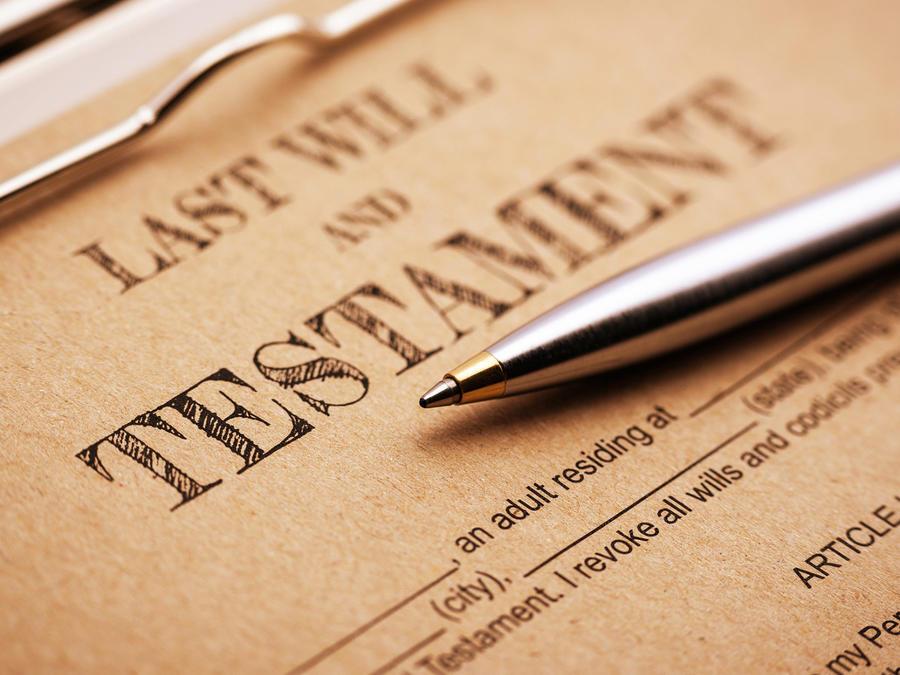 Documento de última voluntad y testamento