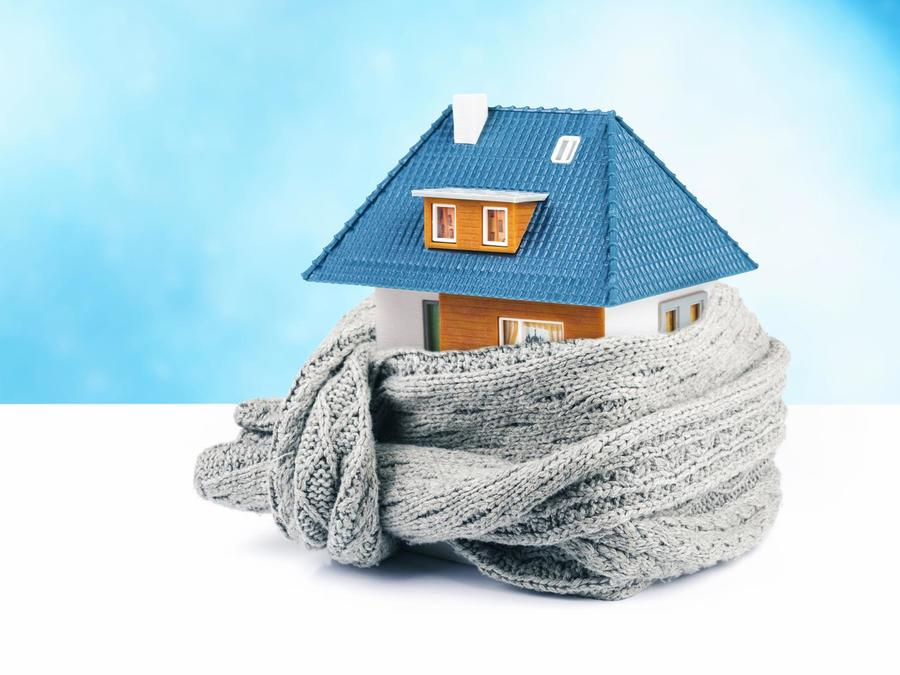 Casa envuelta en una bufanda