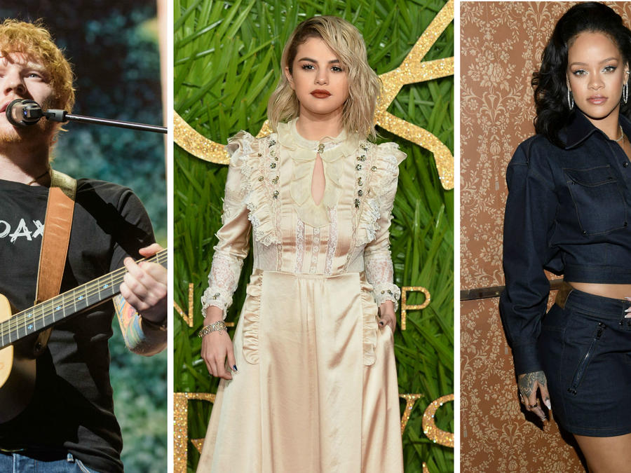 Collage artistas más escuchados en 2017