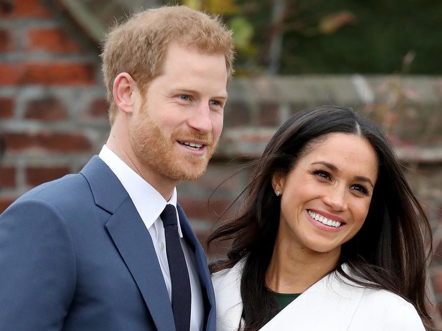 Meghan Markle y el Príncipe Harry el día que anunciaron su compromiso.