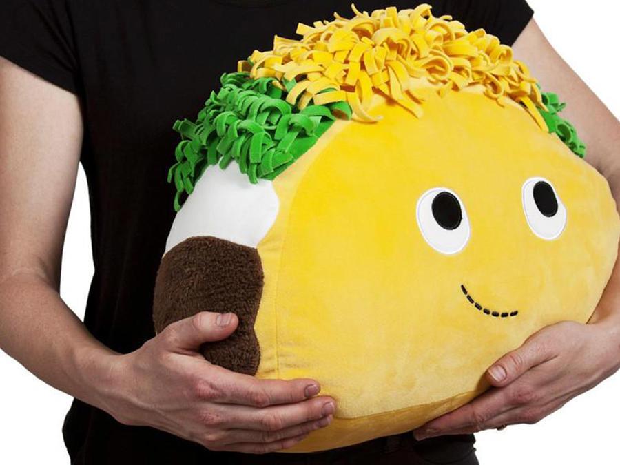 Taco plush pillow