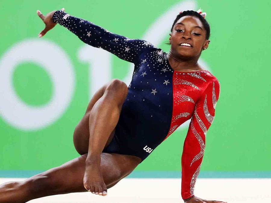 Simone Biles en la competencia de Rio 2016