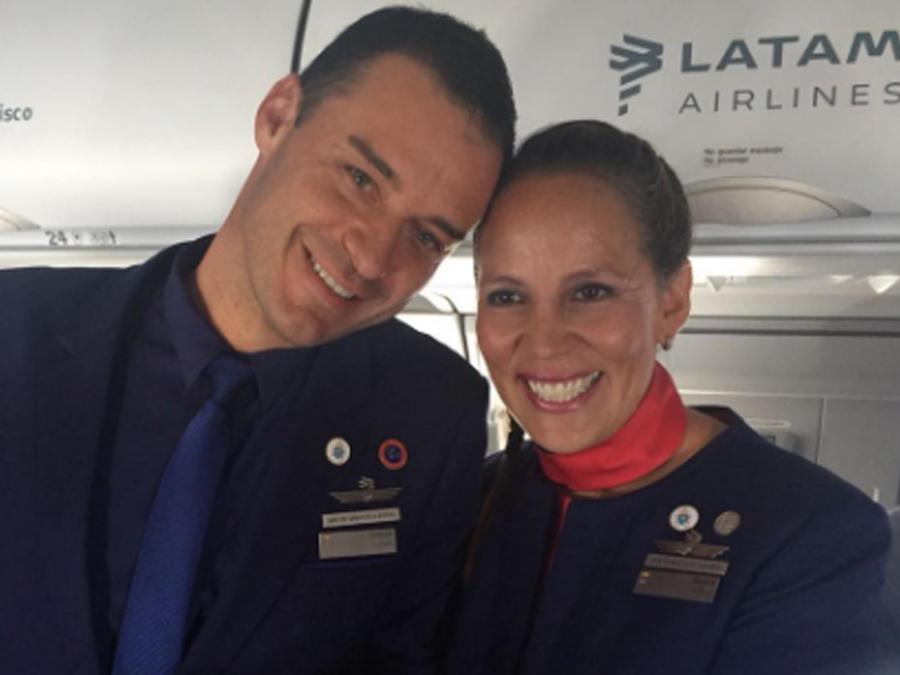 Paula Podest y Carrlos Ciuffardi sonriendo