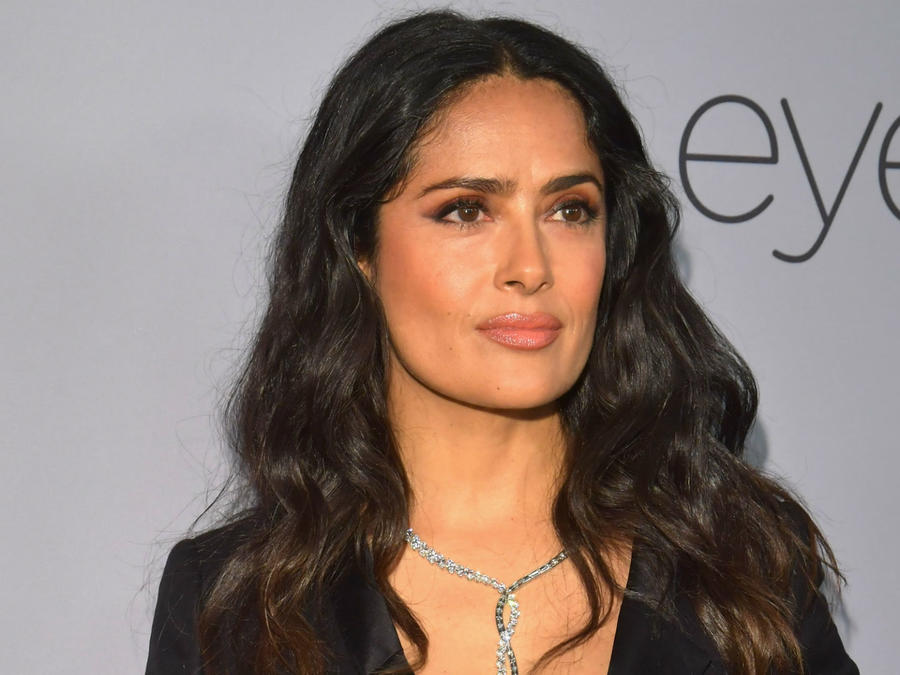 Salma Hayek en la after party de los Golden Globes 2018