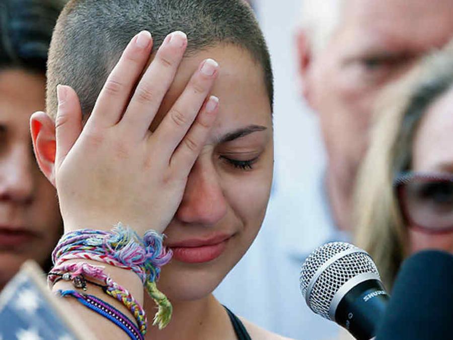 Emma González, estudiante sobreviviente de la masacre en una escuela en Parkland, Florida
