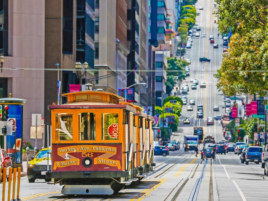 Teleférico histórico en San Francisco, California