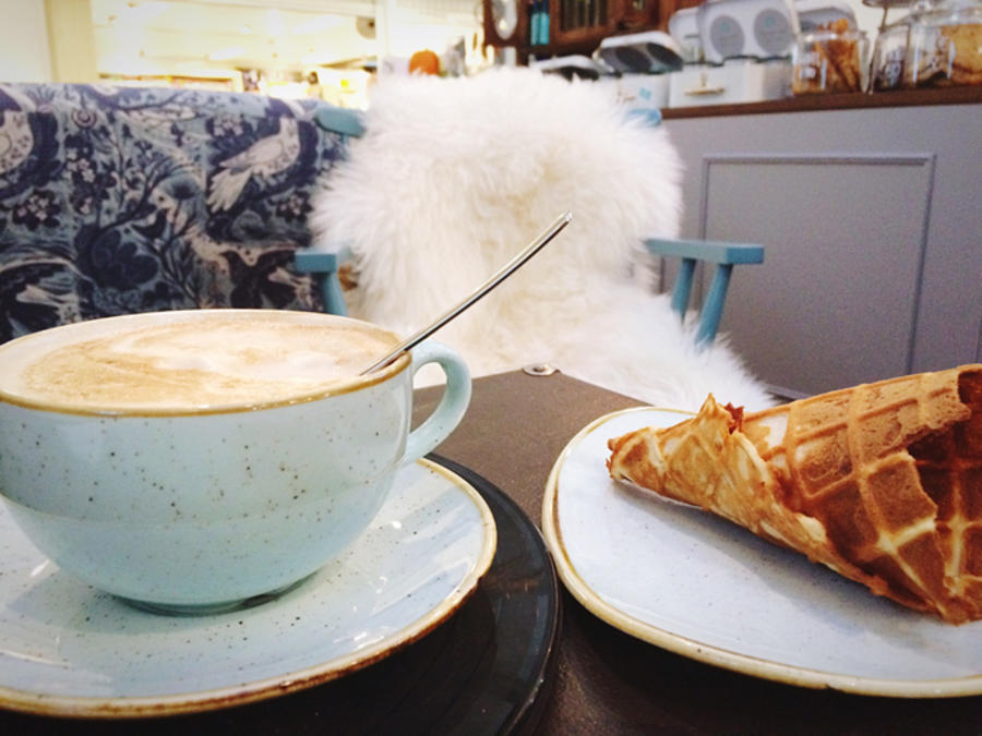 Coffee With Cone Served On Table At Home