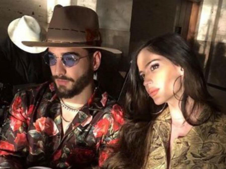 Maluma y su novia