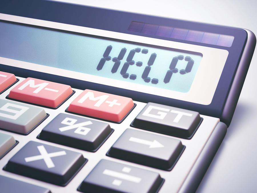 Mensaje de ayuda en calculadora