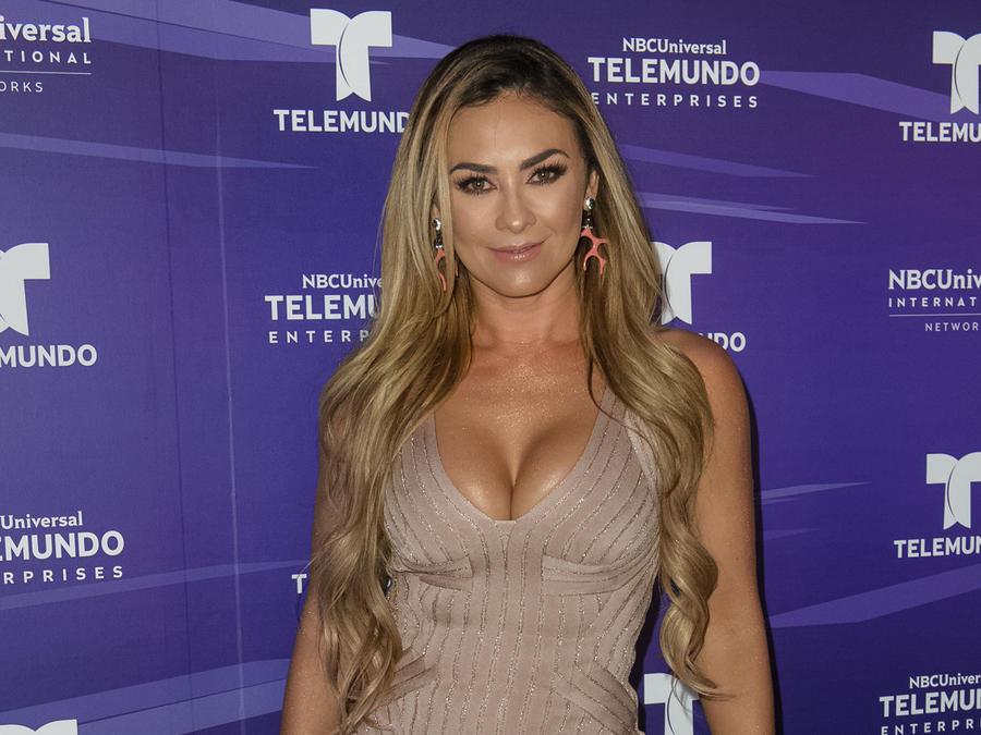 Aracely Arámbula en inauguración de Telemundo Center