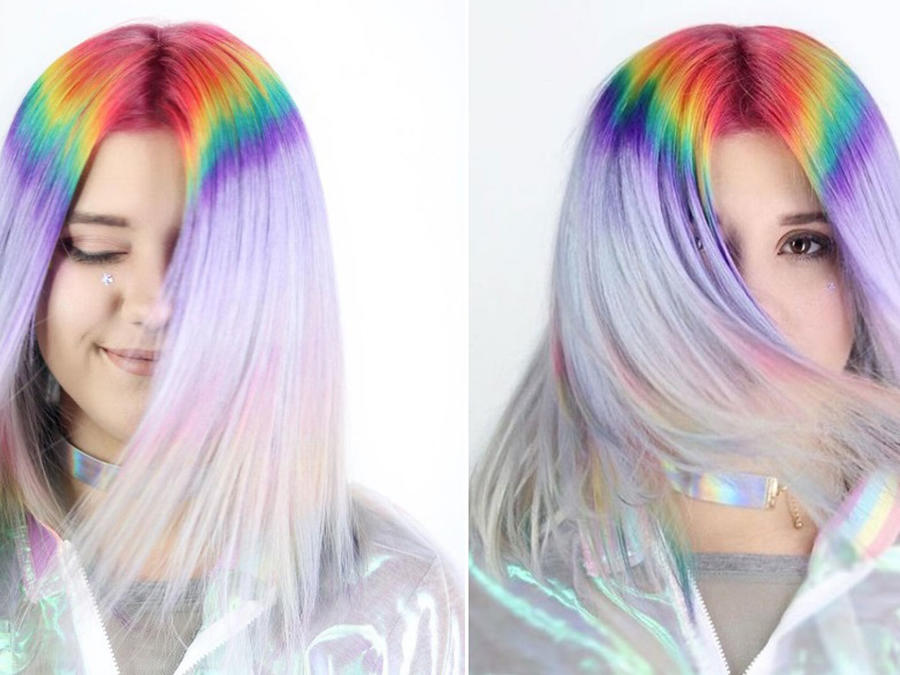 Chica con rainbow roots