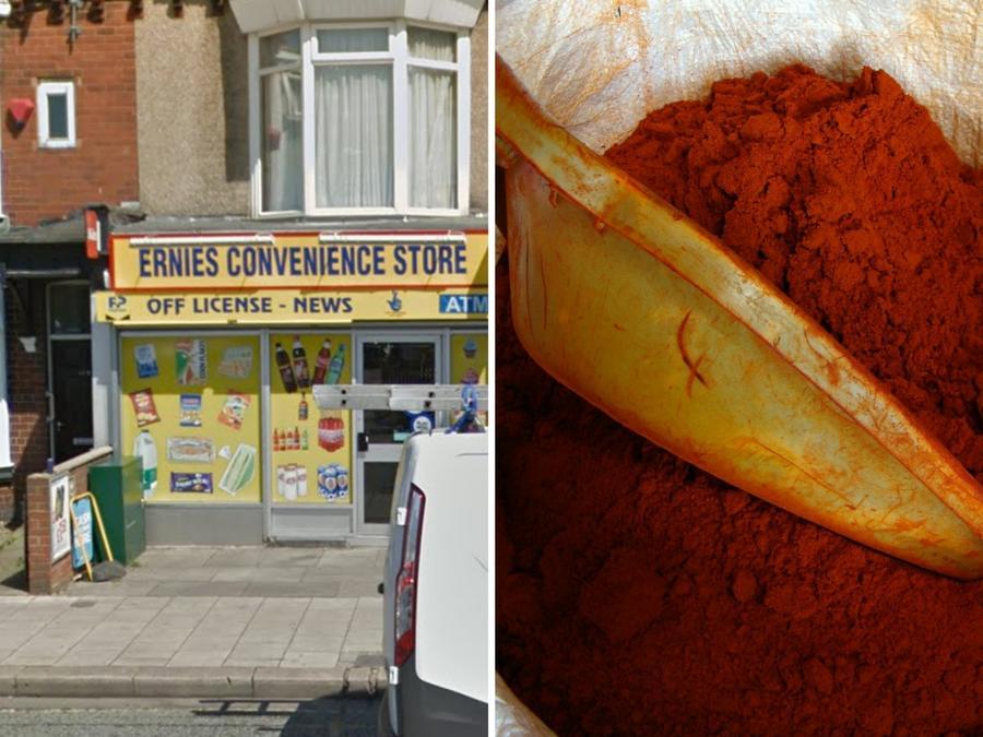 Los encargados de una tienda en Middlesbrough (Inglaterra) hicieron uso de todos los recursos que tenían para evitar el robo.