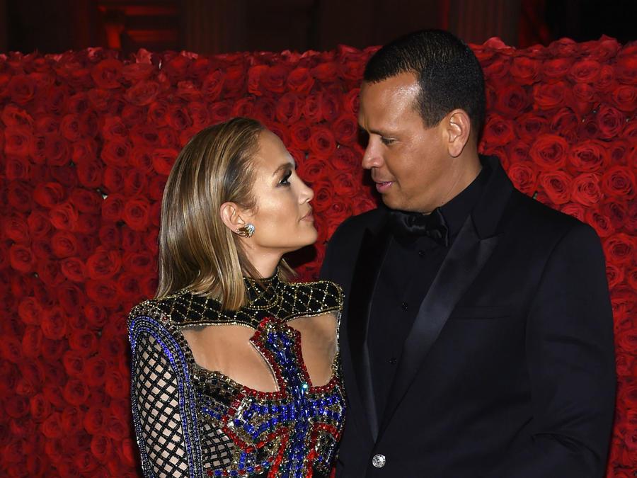 Jennifer Lopez y Alex Rodriguez en la MET Gala 2018