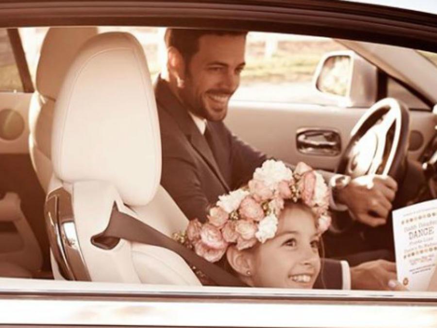 William Levy con su hija Kailey